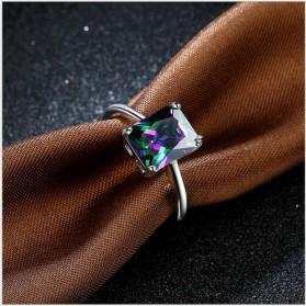 Cincin Wanita Zircon Jewel Size 8 - Silver - 4