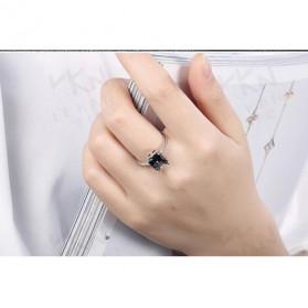 Cincin Wanita Zircon Jewel Size 8 - Silver - 5