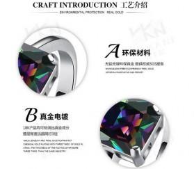 Cincin Wanita Zircon Jewel Size 8 - Silver - 8