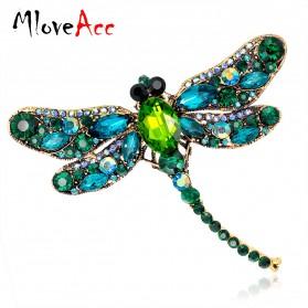 Bros Wanita Dragonfly Jewelry Kebaya Jilbab - Green