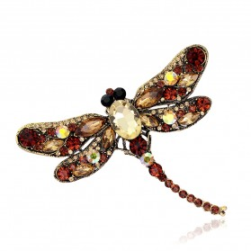 Bros Wanita Dragonfly Jewelry Kebaya Jilbab - Green - 3