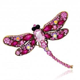 Bros Wanita Dragonfly Jewelry Kebaya Jilbab - Green - 5