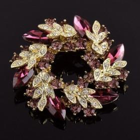 Bros Wanita Flower Jewelry Kebaya Jilbab - Purple