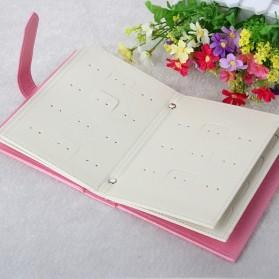 Penyimpanan Perhiasan Anting Model Buku - Black - 3