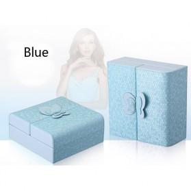 Kotak Penyimpanan Perhiasan Magnetik - Blue