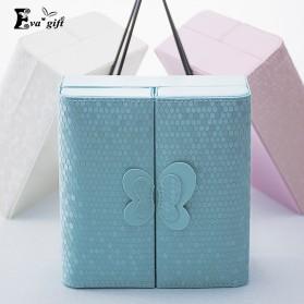 Kotak Penyimpanan Perhiasan Magnetik - Blue - 3
