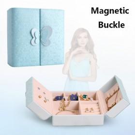 Kotak Penyimpanan Perhiasan Magnetik - Blue - 4