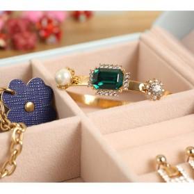 Kotak Penyimpanan Perhiasan Magnetik - Blue - 6