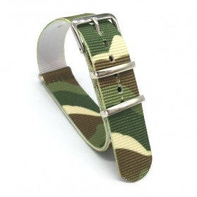 Gelang Nylon Sporty James Bond 18mm - Camouflage