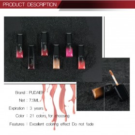 Pudaier Lip Gloss Matte Waterproof No.02 - MF1200 - 8