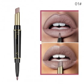 Pudaier Long Lasting Nude Color Double Head Lipstick + Lip Liner No.01