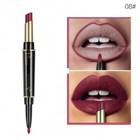 Pudaier Long Lasting Nude Color Double Head Lipstick + Lip Liner No.08