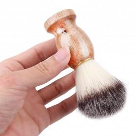 Brush Cukur Barber Salon Pria Shaving Brush - Brown
