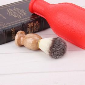 Brush Cukur Baber Salon Pria Shaving Brush - Brown - 4