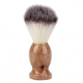 Brush Cukur Baber Salon Pria Shaving Brush - Brown - 5