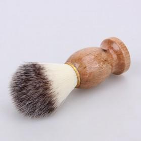 Brush Cukur Baber Salon Pria Shaving Brush - Brown - 7