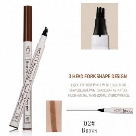 Mking Pretty Pensil Alis Anti Keringat Waterproof - GZZZ - Brown/Red