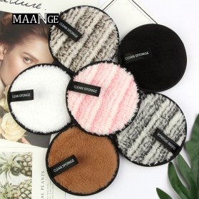 Spons Pembersih Penghapus Makeup Washable Removal Puff 1PCS - MAG5701 - Black - 2