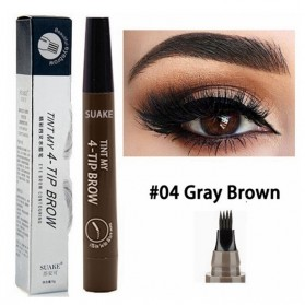 SUAKE Pensil Alis Microblading Eyebrow Tattoo Pen Waterproof - YGZWBZ - Brown/Silver