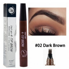 SUAKE Pensil Alis Microblading Eyebrow Tattoo Pen Waterproof - YGZWBZ - Dark Brown