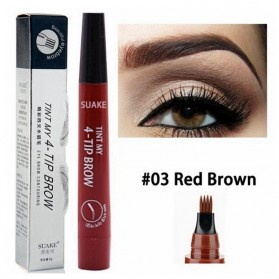 SUAKE Pensil Alis Microblading Eyebrow Tattoo Pen Waterproof - YGZWBZ - Brown/Red