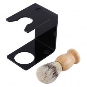 Anbbas Set Tempat Krim Cukur Barber Foam Shaving Handle - 33110 - Brown - 3