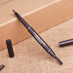 Pensil Alis Anti Air - BIUTTE.CO Dual Head Pensil Alis Eyebrow Pencil Perfect Waterproof - A2369 - Dark Brown