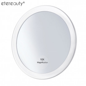 ETEREAUTY Kaca Cermin make Up 10x Magnification with 3 Suction Cup - ET10X - White
