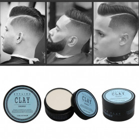 DEQRQY Styling Clay Wax Pomade Rambut Strong Hold 100g - Blue