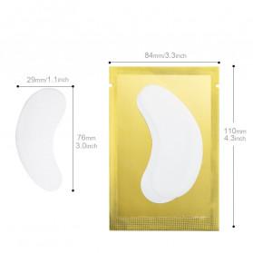 ZWELLBE Sticker Mata Patch Eyelash Extension Tools 50 Pairs - Golden - 4