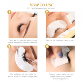 ZWELLBE Sticker Mata Patch Eyelash Extension Tools 50 Pairs - Golden - 5