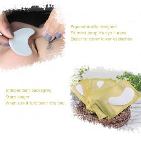 ZWELLBE Sticker Mata Patch Eyelash Extension Tools 50 Pairs - Golden - 8