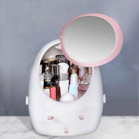 OkusLife Rak Perhiasan Make Up Storage Box dengan Cermin - JCQ1041 - White