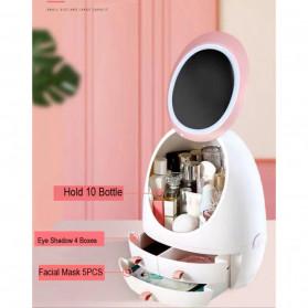 OkusLife Rak Perhiasan Make Up Storage Box dengan Cermin - JCQ1041 - White - 2