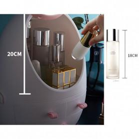 OkusLife Rak Perhiasan Make Up Storage Box dengan Cermin - JCQ1041 - White - 4