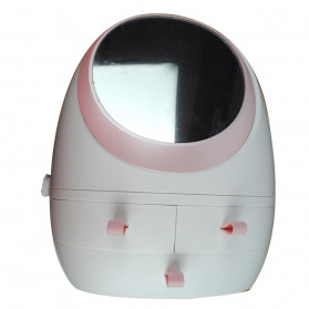 OkusLife Rak Perhiasan Make Up Storage Box dengan Cermin - JCQ1041 - White - 7