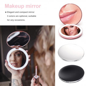 ICOCO Cermin Lipat Makeup Pocket Size Foldable Mirror with LED Light - FH-804 - White - 5