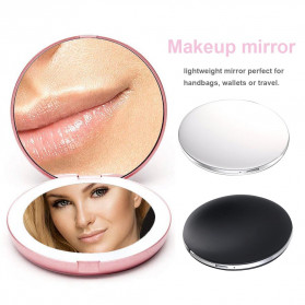 ICOCO Cermin Lipat Makeup Pocket Size Foldable Mirror with LED Light - FH-804 - White - 6