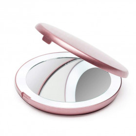 ICOCO Cermin Lipat Makeup Pocket Size Foldable Mirror with LED Light - FH-804 - White - 8