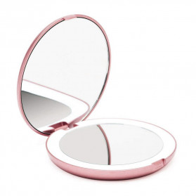 ICOCO Cermin Lipat Makeup Pocket Size Foldable Mirror with LED Light - FH-804 - White - 9