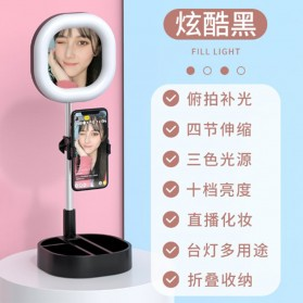 CENTHECHIA Kaca Cermin Fill Ring Light Make Up Selfie Video Live Stream Lamp Mobile Stand - Y3 - Black - 2