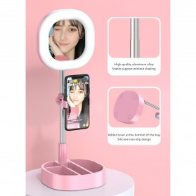 CENTHECHIA Kaca Cermin Fill Ring Light Make Up Selfie Video Live Stream Lamp Mobile Stand - Y3 - Black - 4