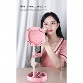 CENTHECHIA Kaca Cermin Fill Ring Light Make Up Selfie Video Live Stream Lamp Mobile Stand - Y3 - Black - 5
