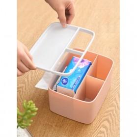 ECOCO Storage Box Kotak Penyimpanan Office Desk Case Organizer - E1602 - Gray - 2