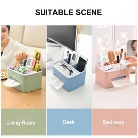 ECOCO Storage Box Kotak Penyimpanan Office Desk Case Organizer - E1602 - Gray - 4