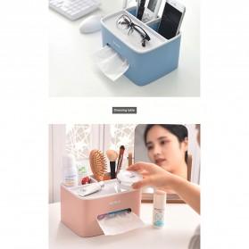 ECOCO Storage Box Kotak Penyimpanan Office Desk Case Organizer - E1602 - Gray - 8