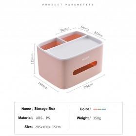 ECOCO Storage Box Kotak Penyimpanan Office Desk Case Organizer - E1602 - Gray - 10