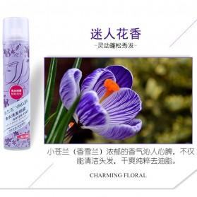 YINGLIJIE Dry Shampoo Spray Kering Tanpa Bilas Air Aroma Charming Floral - Purple