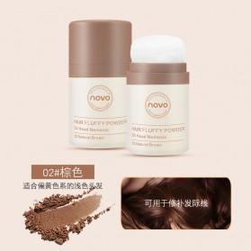 NOVO Hair Powder Bedak Rambut Pria Natural No.02 Natural Brown - 2