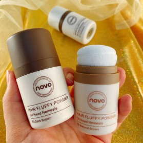 NOVO Hair Powder Bedak Rambut Pria Natural No.02 Natural Brown - 4